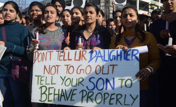 印度婦女上街抗議